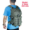 Qwest 30L Outdoor Tactical Military Style Gear Pack Backpack, Drab Green (CL_CRS806002) - Alt Image 5
