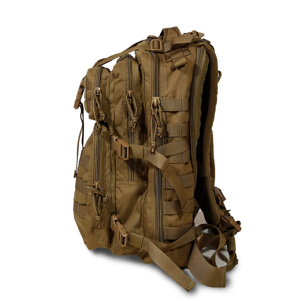 Qwest 30L Outdoor Tactical Military Style Gear Pack Backpack, Brown (CL_CRS806003) - Alt Image 5
