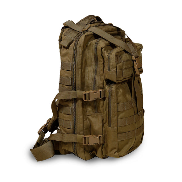 Qwest 30L Outdoor Tactical Military Style Gear Pack Backpack, Brown (CL_CRS806003) - Main Image