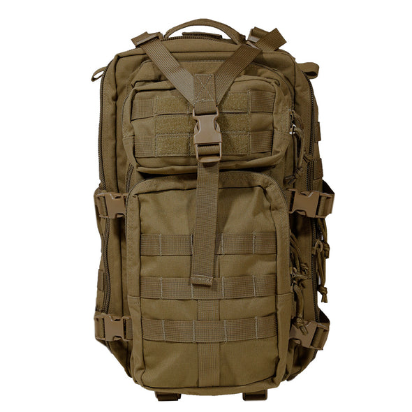 Qwest 30L Outdoor Tactical Military Style Gear Pack Backpack, Brown (CL_CRS806003) - Alt Image 6