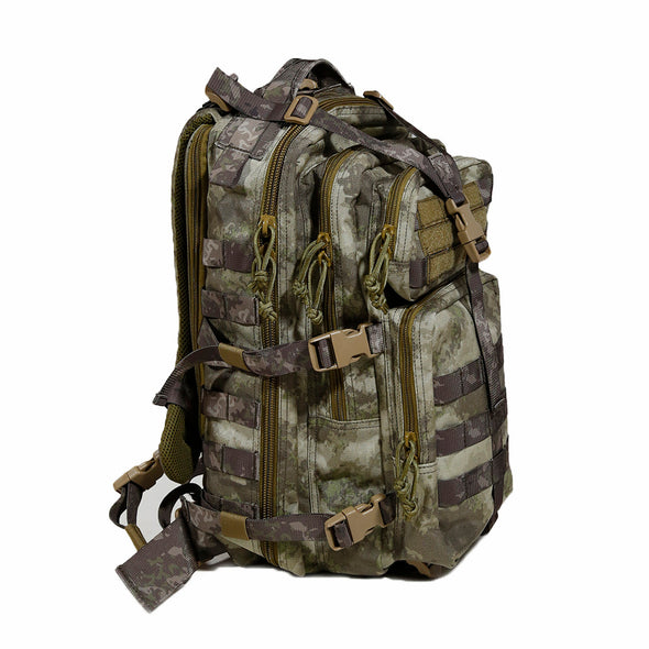 Qwest 30L Outdoor Tactical Military Style Gear Pack Backpack, A-Tac Cammo (CL_CRS806004) - Main Image
