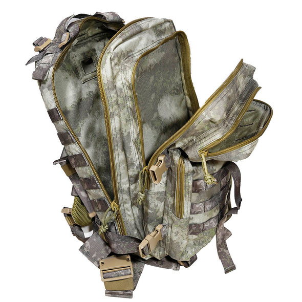 Qwest 30L Outdoor Tactical Military Style Gear Pack Backpack, A-Tac Cammo (CL_CRS806004) - Alt Image 2