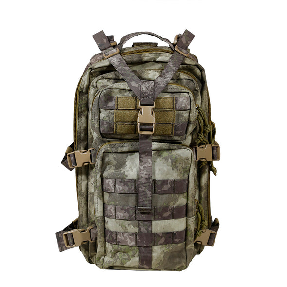 Qwest 30L Outdoor Tactical Military Style Gear Pack Backpack, A-Tac Cammo (CL_CRS806004) - Alt Image 7