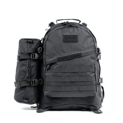 Qwest 42L Outdoor Tactical Military Style Gear Pack Backpack + Bonus 10 L Bag, Black (CL_CRS806005) - Main Image