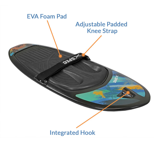 [product_tag] , Xspec Kneeboard for Knee Surfing Boating Waterboarding, Black - Crosslinks