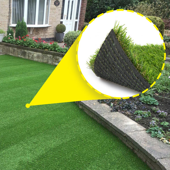 Clevr Artificial Synthetic Turf Grass Lawn for Outdoor Landscape, 6.5' X 10' (CL_CRS202401) - Alt Image 3