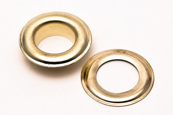 "Clevr 300 pc. Brass Grommets & Washers for Hand Pressed Grommet Machines (Size #4) 1/2"" (CL_CRS200304) - Alt Image 1"