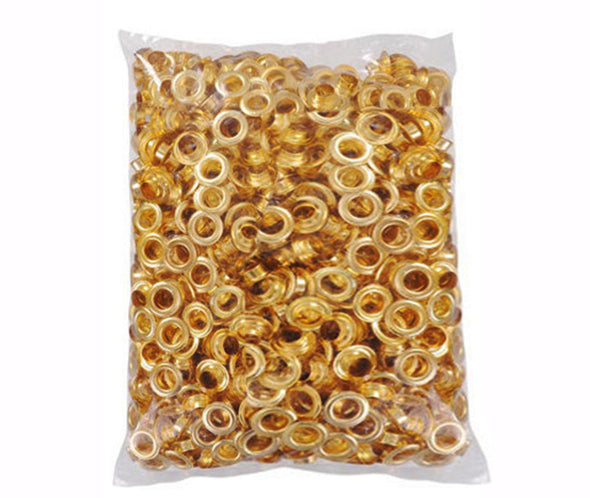 "Clevr 300 pc. Brass Grommets & Washers for Hand Pressed Grommet Machines (Size #0) 1/4"" (CL_CRS200302) - Alt Image 2"