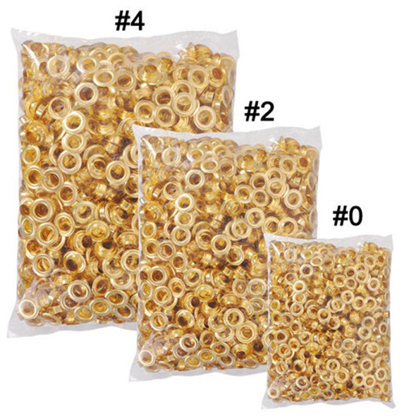 "Clevr 300 pc. Brass Grommets & Washers for Hand Pressed Grommet Machines (Size #0) 1/4"" (CL_CRS200302) - Alt Image 4"