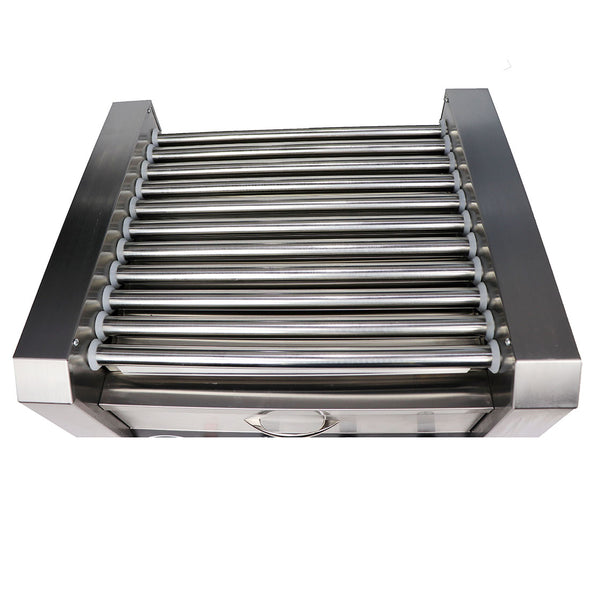 Clevr Commercial 30 Hot Dog 11 Roller Grill Cooker Warmer Hotdog Machine (CL_CRS201716) - Alt Image 4