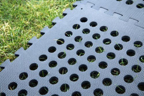 Clevr Black Interlocking EVA Foam Mats Mat w/ drain holes (96 Sq. Ft. - 24 pcs) (CL_CRS804917) - Alt Image 3