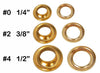"Clevr 300 pc. Brass Grommets & Washers for Hand Pressed Grommet Machines (Size #4) 1/2"" (CL_CRS200304) - Alt Image 3"
