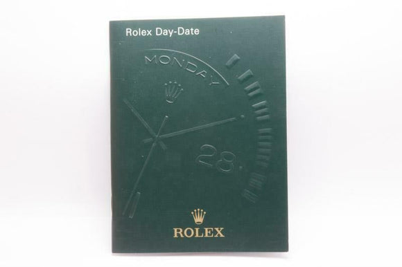 Rolex Day-Date Manual 2005 Reference 551.02 Eng 2.2005