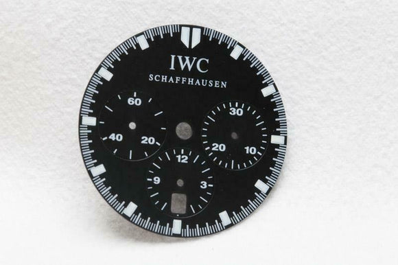 IWC Black Chronograph Wristwatch Dial - 26.5mm