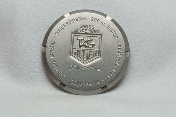 Tag Heuer Stainless Steel Caseback Reference 964.013 Series 2000