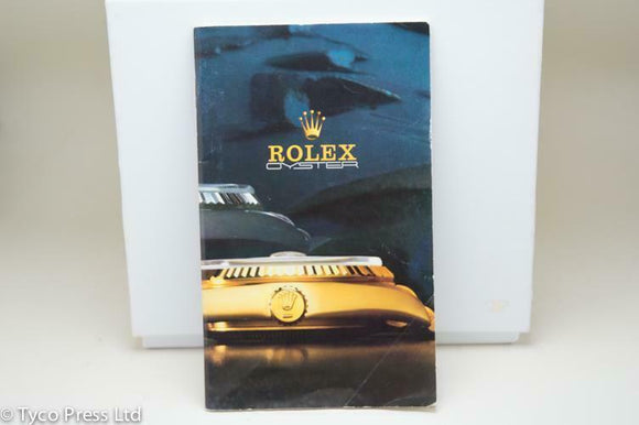 Rolex Osyter Catalogue - Ref 136.07 1986 Models 6265 16803 1019