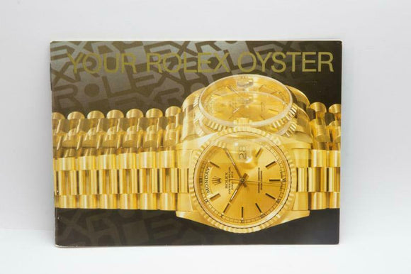 Your Rolex Oyster Booklet - 1995 - Ref 579.52 Eng 300 3.1995