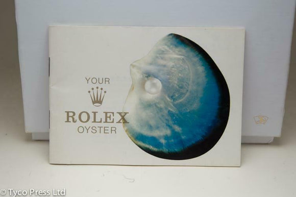 Your Rolex Oyster Booklet - 1977 - Ref 579.07