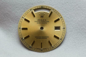 Rolex Gents Day-Date Dial - Gold With Gold Markers 28.5mm