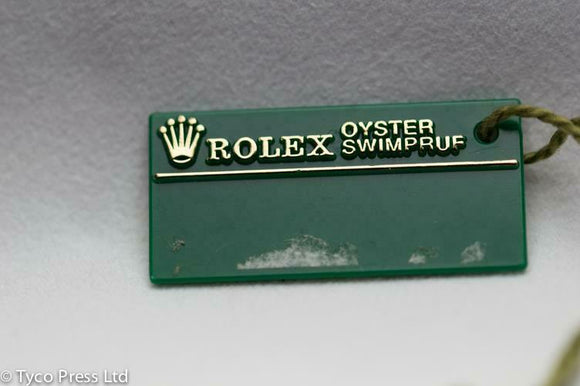 Rolex Green Oyster Swimpruf Swing Tag - Serial S893500 - 1993 / 1994
