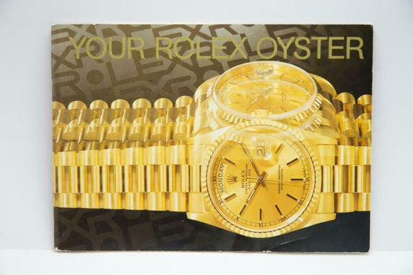 Your Rolex Oyster Booklet - 1999 - Ref 579.52 Eng 100 2.1999