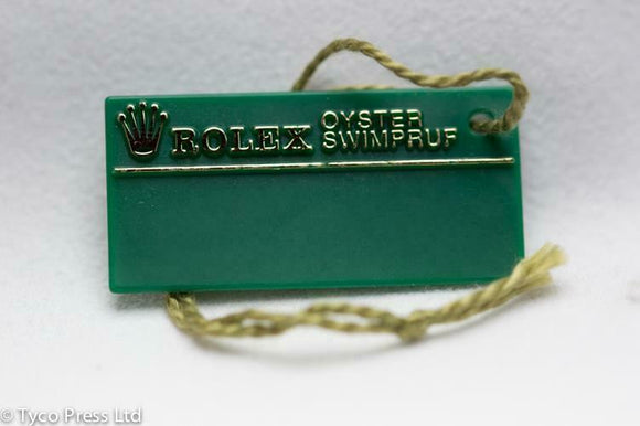 Rolex Green Oyster Swimpruf Swing Tag - Serial T393862 - 1996