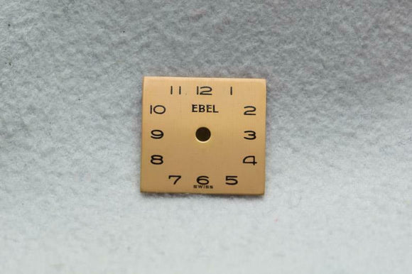 Ebel 1940's 1950's Copper Colour Dial 12.45mm x 12.45mm NOS
