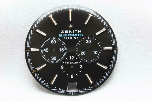 Zenith Blue Primero Black 36 000 VpH Wristwatch Dial 36mm