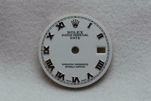 Rolex Ladies Date Dial - White With Silver Numerals 19.8mm