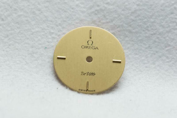 Ladies Gold Omega Dial - Gold Markers - NOS - 16.9mm