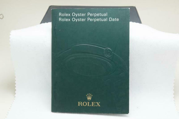 Rolex Oyster Perpetual Date Manual 2009 Reference 578.02 Eng 7.2009