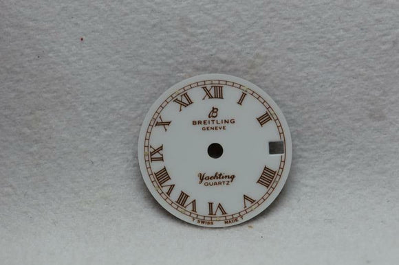 Breitling Ladies White Yachting Quartz Wristwatch Dial - 17mm NOS