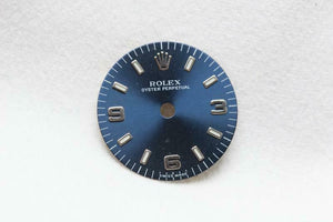 Rolex Ladies Dial - Blue With Silver Numerals 18mm Lume & Feet