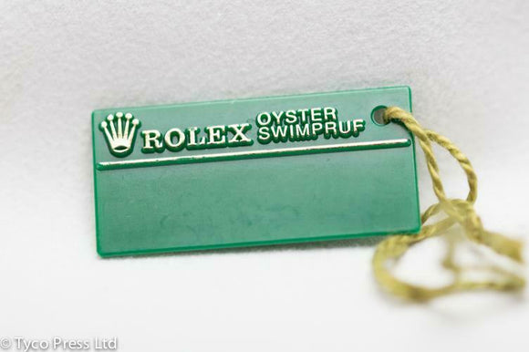 Rolex Green Oyster Swimpruf Swing Tag - Serial X841007 - 1991