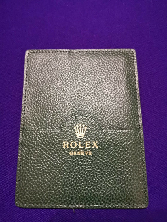 Genuine Rolex Warranty Guarantee Papers & Manual Pouch / Wallet Ref 101.40.55