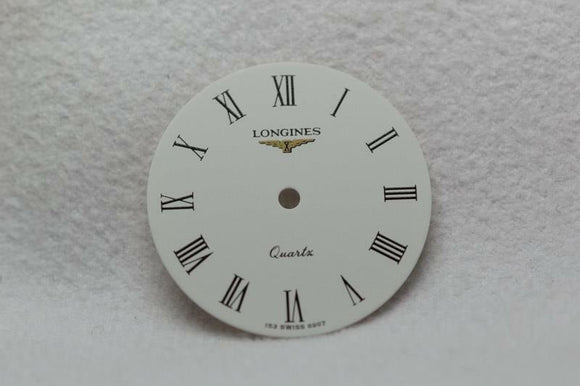 Longines Ladies White Quartz Wristwatch Dial -19.4mm