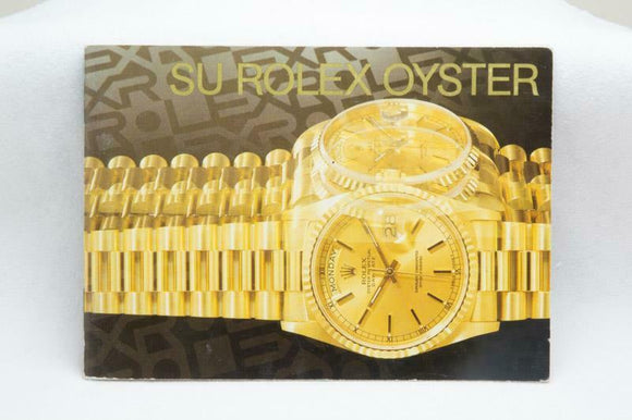 Your Rolex Oyster Booklet - Spanish 1999 - Ref 579.54 Sp 10 2.1999