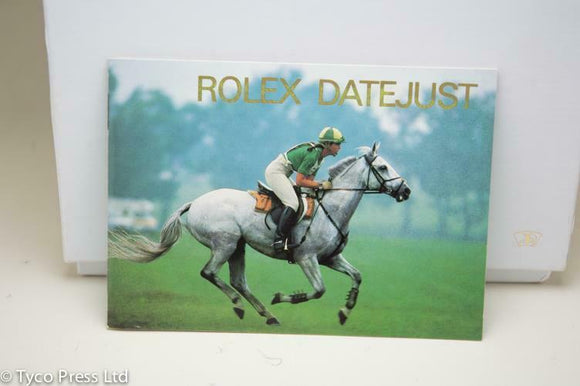 Rolex Datejust Manual English 1990 Reference 593.52 Eng 100 1.1990