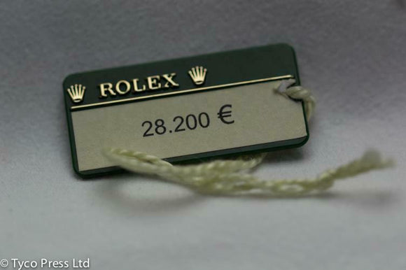 Rolex Green President Swing Tag Random Serial 505 From 2010 onwards