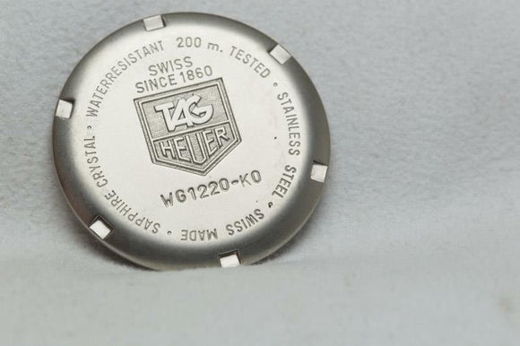 Tag Heuer Stainless Steel Caseback Reference WG1220-K0 SEL