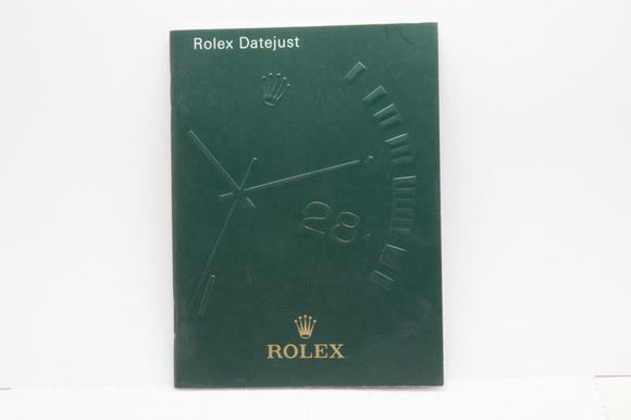 Rolex Datejust Manual 2004 Reference 552.02 Eng 9.2004