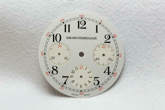 Girard Perregaux Triple Register Silver Chronograph Dial 31mm
