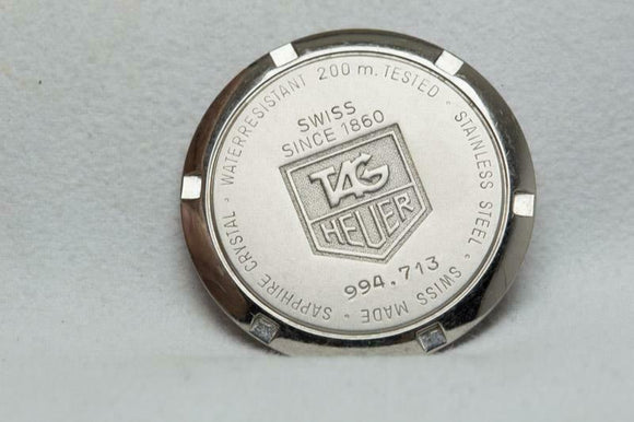 Tag Heuer Stainless Steel Caseback Reference 994.713 Series 4000