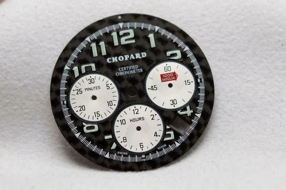 Chopard Silver 1000 Miglia Chronograph Watch Dial - 32mm J