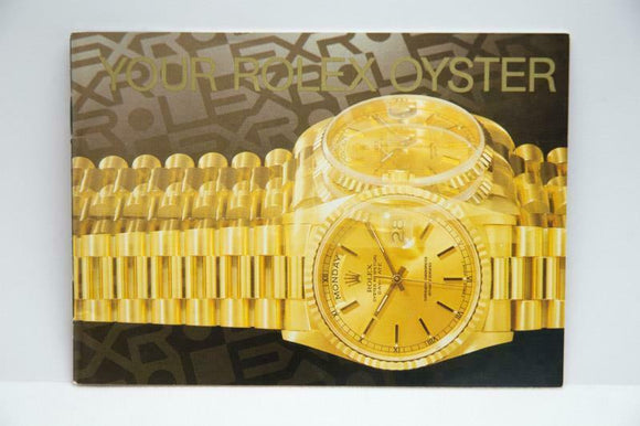 Your Rolex Oyster Booklet - 1998 - Ref 579.52 Eng 150 2.1998