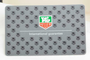 Tag Heuer International Guarantee Card