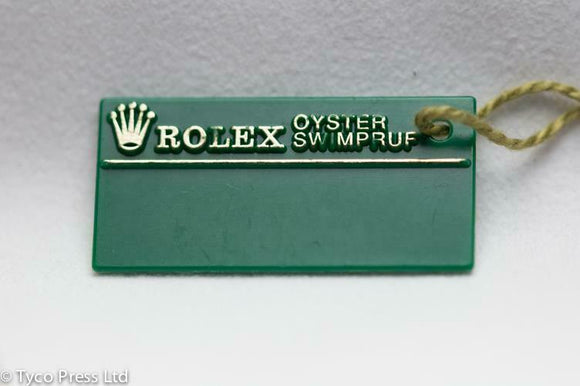 Rolex Green Oyster Datejust 16233 Swing Tag - W Serial 1995