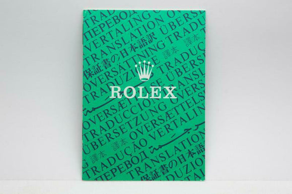 Rolex Translation Booklet - Ref 565.00.6V