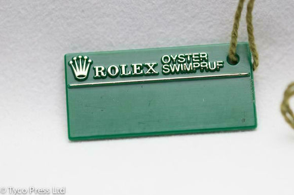 Rolex Green Oyster Datejust 16234 Swing Tag - F Serial 2001 - 2003