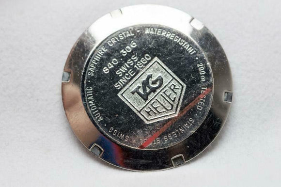 Tag Heuer Stainless Steel Caseback Reference 840.306 Series 2000 Chrono